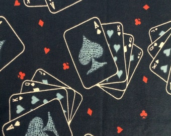 Playing Cards - FLANNEL Fabric - 17""