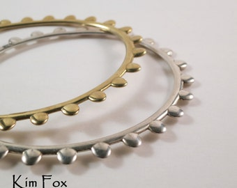 7 inch Oval Petal Bangles in  Bronze -  Designed by Kim Fox