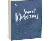 SALE Black Friday - Sweet Dreams  -  Woodblock Art Sign