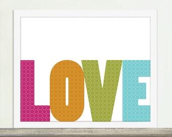 Love, Love Art, Love Poster