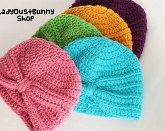 Baby Turban, Crochet baby turban, crochet baby hat, baby hat