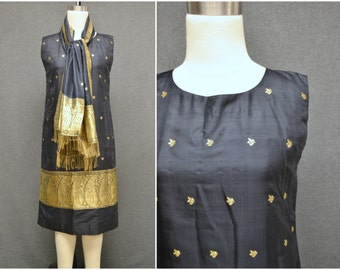 1980s Singh of India Dress and Shawl