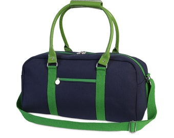Sampson/Navy-Green - Eva large duffel- from the mountains to the beach