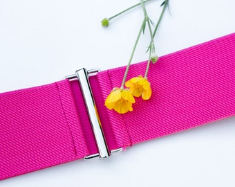 Sample sale - Size small pink elastic stretch belt for women