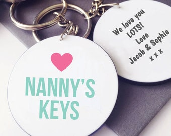 Nanny's / Granny's Keys Keyring