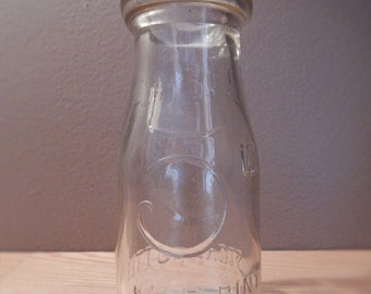 Vintage Half Pint Milk Bottle