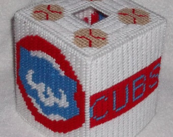 Cubbies Tissue Box Cover Plastic Canvas Pattern