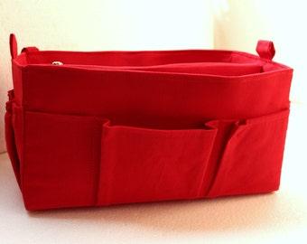 Purse organizer Fits Speedy 35- Bag organizer insert in Rich Red