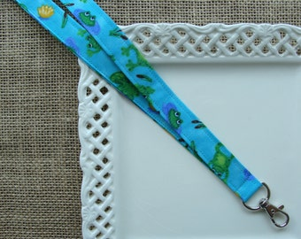 Fabric Lanyard - FROGS in the Pond
