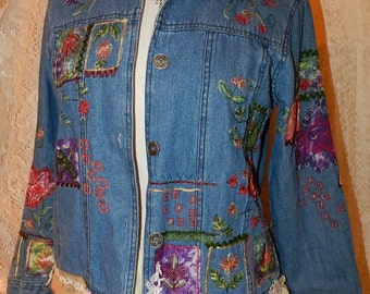 OOAK RePurposed Denim Jacket