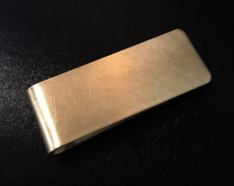 Everyday carry brass money clip, hand made,  mens accessories