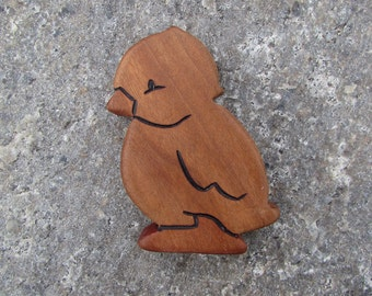 Wood Toy Chick - Cherry natural wooden toddler toy