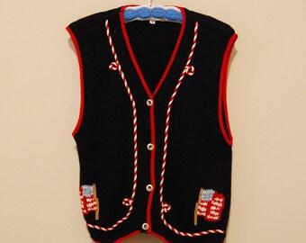 Vintage I love the USA Vest