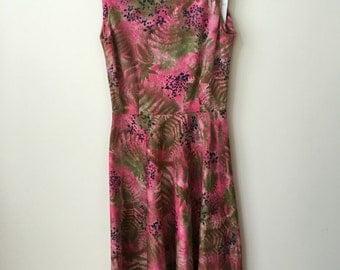 vintage bohemian floral dress