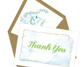 BOX OF 12 Neverland Thank You Notes