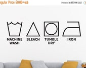 Laundry Room Decal, Laundry Decal, Laundry Symbols, Laundry Wall Decal, Laundry Room Wall Decor, Laundry Room Wall Decal, Vinyl Decal, Deca