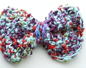 Ribbon Bows Crochet Bows Party Bows Birthday Bows Wedding Bows Prom Bows Girl's Hair accessories Teen girls Hair Bows In Blue Multicolored