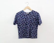 SALE vintage YSL top,  Yves Saint Laurent blue shirt