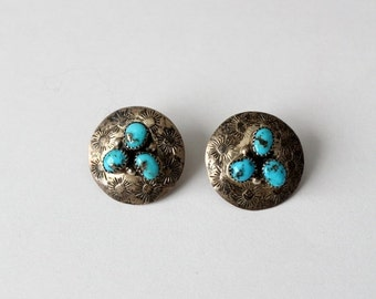 SALE vintage sterling silver and turquoise earrings