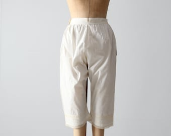 antique bloomers, Victorian pantaloons, 1900s lingerie