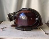 Vintage Miners Helmet With Lamp Light Fiberglass SkullGuard Hard Hat 1981 Gift For Dad