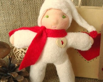 A Waldorf Inspired Just Because Gnome Toy Gift- Red