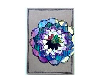Handmade Blank Card - Paper Flower Garden series 1 - 5x7 (PFGL-0021)