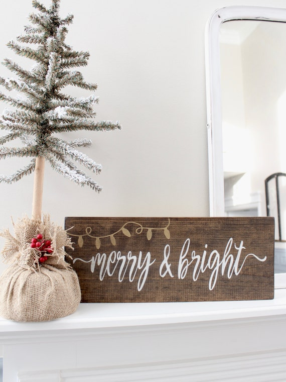 Items Similar To Christmas Wood Stained Sign Rustic