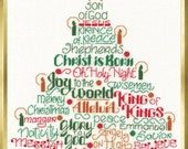 LET'S BELIEVE - Imaginating Cross Stitch Pattern - Christmas Tree counted cross stitch pattern chart holiday christmas cross stitch candles