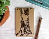 Woodland wedding vow book, tree wedding book, rustic wedding, romantic wedding, vow renewal wedding memory, cute notebooks, wedding vows