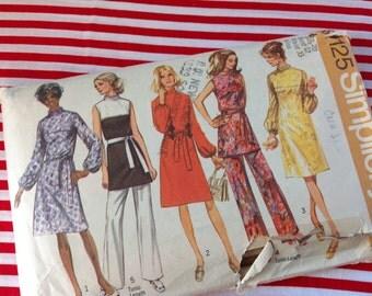 Vintage Simplicity Pattern 9125, dress pattern, 70's dress pattern, size 20 pattern, tunic pattern, pants pattern