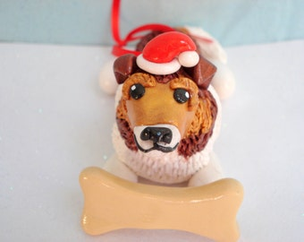 Collie Ornament Christmas Tree Decoration Dog Christmas Ornaments Pet Personalized Gift Shetland Sheepdog Ornament