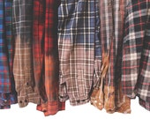 Ombre Flannel Shirt Dip Dyed Bleached Distressed Flannels