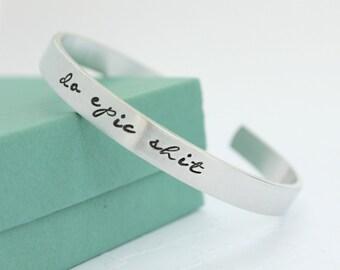 Personalized Bracelet - Quote Bracelet - Personalized Bracelet - Graduation Jewelry - Graduation Gift - Epic Jewelry - Inspirational Quote