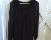 The sweetest darling vintage pleated delicate ruffle dolly empire dress xs/s