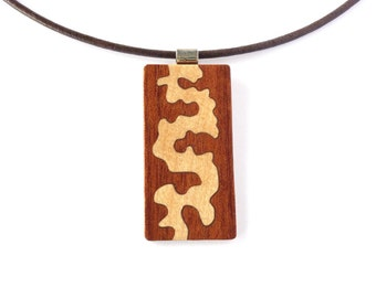 Wooden necklace, Necklace for women, Fashion jewelry, Pendant necklace, Ecofriendly jewelry, Necklace designs, Rectangular pendant