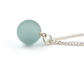 Sea Glass Marble Necklace Pendant Beach Glass Jewelry Sea Glass Jewellery Sea Glass Jewelry Sterling Silver The Strandline