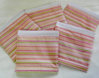 LUGGAGE HANDLE Wraps Luggage Identifier Tag Stripes Peach Pink Yellow Green One (1) Each