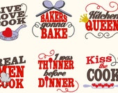Kitchen cute quotes - machine embroidery designs - 4x4 mini sizes and 5x7  INSTANT DOWNLOAD