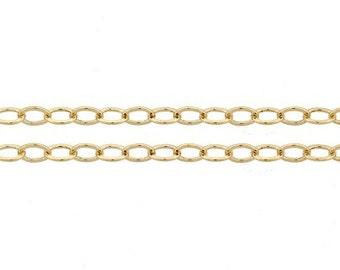 14Kt Gold Filled 3.5x2.5mm Flat Cable Chain - 5ft (5360-5)/1