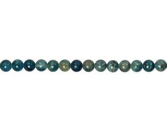 Blue Apatite Round Bead 6mm - 1 Strand (9214) Wholesale price