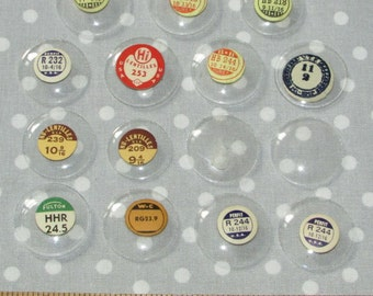 Lot of 15 Round Watch Maker Domed Crystal Glass Face Fairy Window Upcycle Jewelry Parts Vintage Dome (EE2)