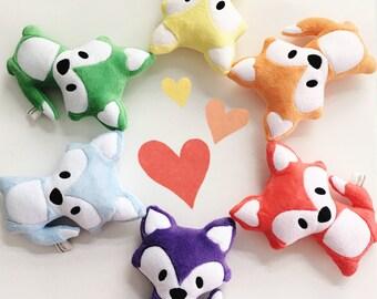 Stuffed Fox (YOUR choice of COLOR) - Plush Fox - Fox Toy - Stuffed Animal - Woodland Fox - Personalized Animal - Custom Toy - Gift for Baby