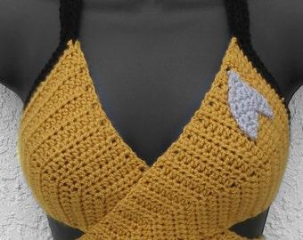 Star Trek - Inspired Crochet Wrap Top - Washable