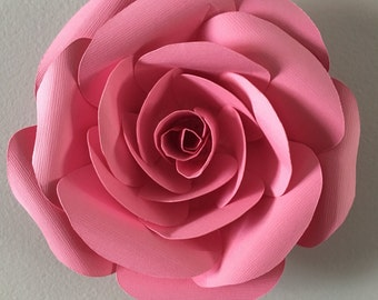 3D Wall Rose  - Pink rose  decal, wall decoration