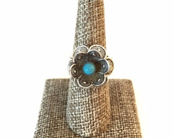70's Vintage Sarah Coventry Blue Buttercup Ring