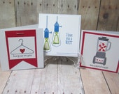 Set of 3 Punny 3x3 Note Cards