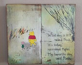 Winnie The Pooh Pallet Sign Art