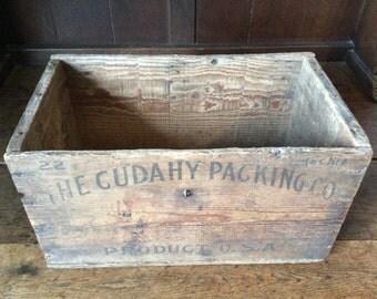 Vintage American Cudahy Packing Co. USA storage decor box circa 1920's / English Shop