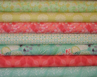 Canyon Fat Quarter Bundle of 7 by Kate Spain for Moda 3 LEFT